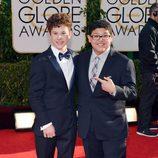 Nolan Golud y Rico Rodríguez en la alfombra roja de los Globos de Oro 2014