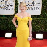 Melissa Rauch, en la alfombra roja de los Globos de Oro 2014