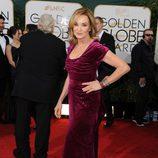 Jessica Lange en la alfombra roja de los Globos de Oro 2014