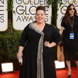 Melissa McCarthy en la alfombra roja de los Globos de Oro 2014