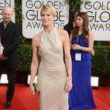 Robin Wright en la alfombra roja de los Globos de Oro 2014