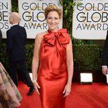 Edie Falco en la alfombra roja de los Globos de Oro 2014