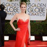 Kristen Connolly en la alfombra roja de los Globos de Oro 2014