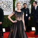 Lily Rabe en la alfombra roja de los Globos de Oro 2014