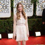 Taissa Farmiga en la alfombra roja de los Globos de Oro 2014