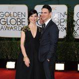 Julianna Margulies y Keith Lieberthal en los Globos de Oro 2014