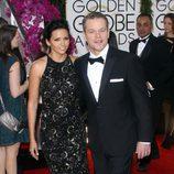 Matt Damon en los Globos de Oro 2014