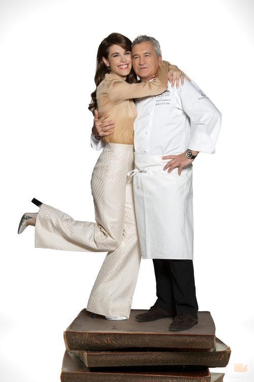 Raquel Sánchez Silva y Paco Torreblanca en 'Deja sitio para el postre'