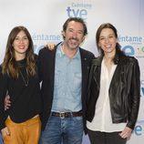 Bárbara Goenaga, Ginés García Millán y Ariadna Gil en la presentación de la nueva temporada de 'Cuéntame cómo pasó'