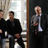 Jacobo, Martín y Cuevas en el primer capítulo de la tercera temporada de 'Los misterios de Laura'