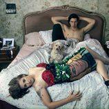 Lena Dunham y Adam Driver en la cama