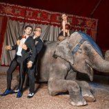 Miren Ibarguren, Canco Rodríguez y Torito en el circo