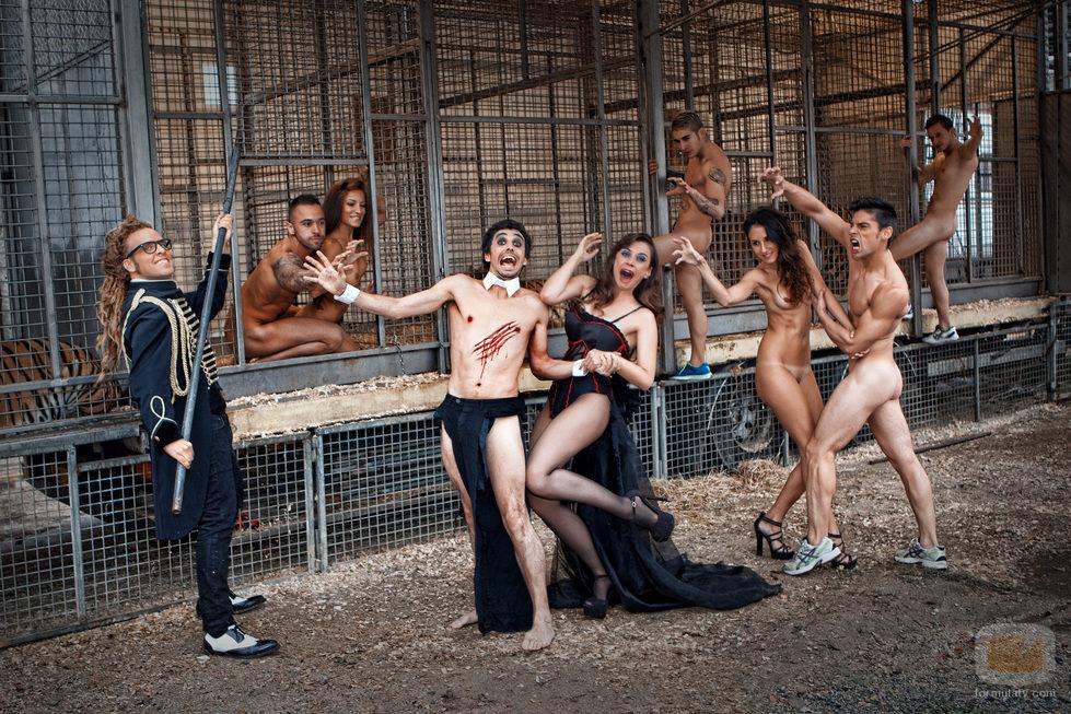 Canco Rodríguez y Miren Ibarguren, junto a cuerpos desnudos en Primera Línea