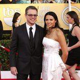 Matt Damon y Luciana Barroso en los SAG 2014