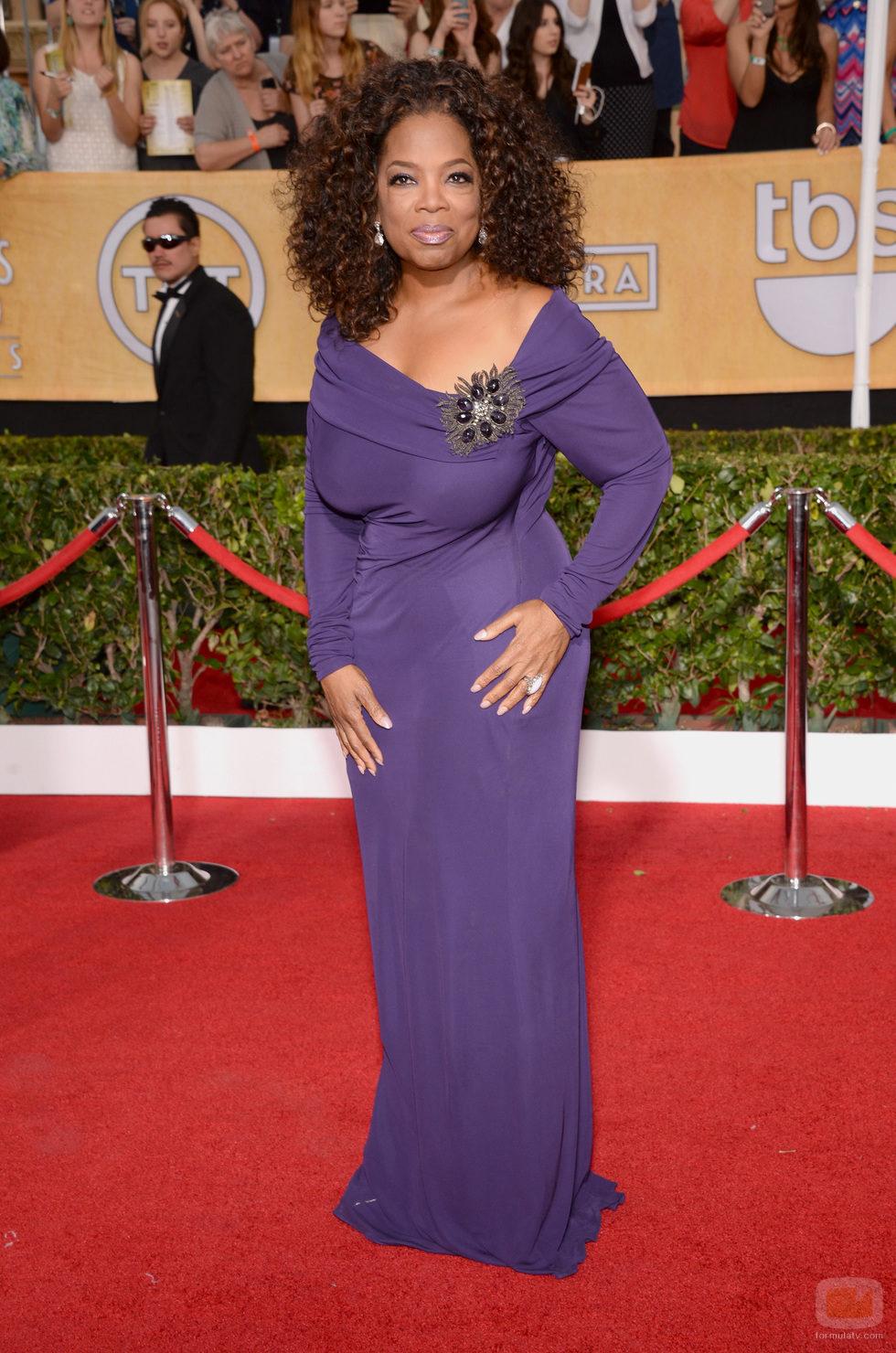 Oprah Winfrey en la alfombra roja de los SAG 2014