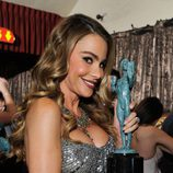 Sofia Vergara con el SAG Award 2014 a Mejor Comedia