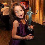 Aubrey Anderson-Emmons con el SAG Award 2014 a Mejor Comedia