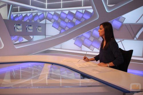 Luz Carmen Herrera en el nuevo plató de 'Extremadura noticias'
