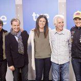 Juanjo Ballesta, Javier Sierra, Edurne Pasabán, Kiko Veneno y Laia Sanz en la presentación de 'Cumbres'