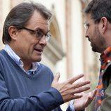 Jordi Évole junto a Artur Más en 'Salvados'