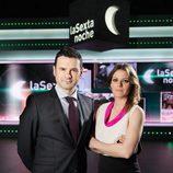 Iñaki Gil y Andrea Ropero, presentadores de 'laSexta noche'