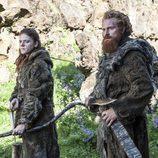 Rose Leslie y Kristofer Hivju son los salvajes Ygritte y Tormund Matagigantes en 'Juego de tronos'