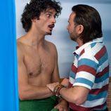 Javi discute con Fermín tras salir de la ducha