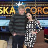 Alaska y Javier Coronas en el plató de 'Alaska y Coronas'