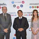 Manuel Villanueva, José Manuel Bermúdez y Patricia Marco