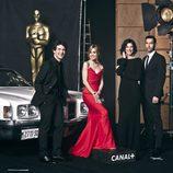 Alexandra Jiménez, Toni Garrido, Cristina Teva y Guillermo de Mulder en los Oscar 2014 de Canal+