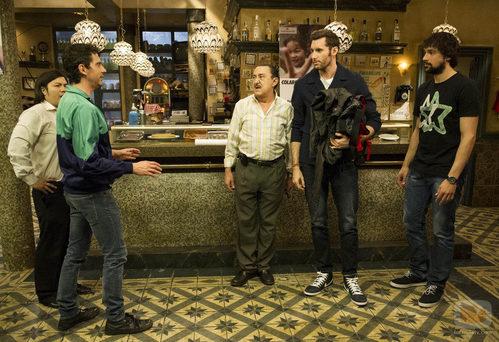 Rudy Fernández y Sergio Llull visitan Esperanza Sur en 'Aída'
