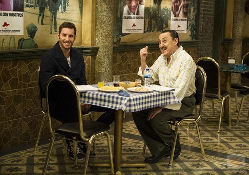 Rudy Fernández y Mariano Peña en 'Aída'