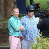Jesse Tyler Ferguson y Eric Stonestreet de rodaje en Australia