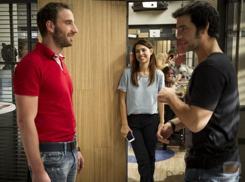 Dani Rovira, Fran Perea y Cristina Brondo en 'B&b, de boca en boca'