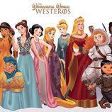 Las princesas Disney dibujadas como personajes de 'Juego de tronos'