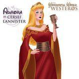La princesa Aurora como Cersei Lannister, de 'Juego de tronos'