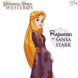 La princesa Rapunzel como Sansa Stark, de 'Juego de tronos'