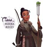 La princesa Tiana como Meera Reed, de 'Juego de tronos'