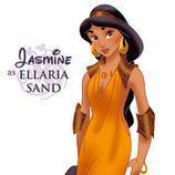 La princesa Jasmín como Ellaria Sand, de 'Juego de tronos'