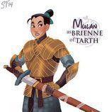 Mulán como Brienne de Tarth, de 'Juego de tronos'