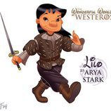 Lilo como Arya Stark, de 'Juego de tronos'