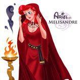 La princesa Ariel como Melisandre, de 'Juego de tronos'