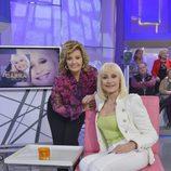 María Teresa Campos y Raffaella Carrà en '¡Qué tiempo tan feliz!'