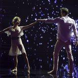Óscar Martínez y Eva Armentos en el primer programa de 'A bailar!'