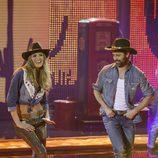 Laura Sánchez y David Ascanio en el primer programa de 'A bailar!'