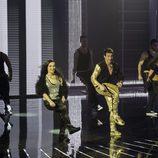 Juanjo Ballesta y Verónica Rebollo en el primer programa de 'A Bailar!'