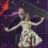 El Monaguillo y Lola Plazas en el primer programa de 'A bailar!'