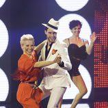 Soraya y Miguel Ángel Herrera en el primer programa de 'A bailar!'