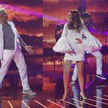 Santiago Cañizares y Mayte García en el primer programa de 'A bailar!'