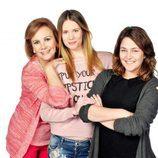 Elena Irureta, Arancha Martí y Teresa Hurtado de Ory, actrices de 'Ciega a citas'